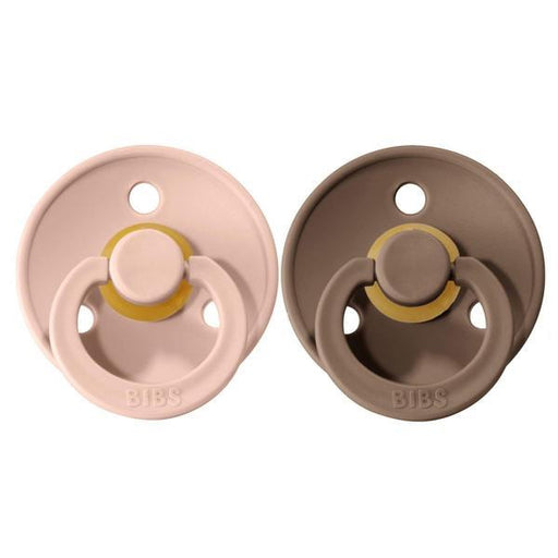 BIBS Cherry Shaped Pacifiers (2-pack) - 18+ months - Dark Oak & Blush-Pacifier-BIBS-Eko Kids