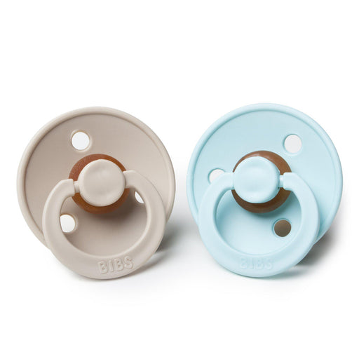 BIBS Cherry Shaped Pacifiers (2-pack) - 6+ months - Mint & Beige-Pacifier-BIBS-Eko Kids
