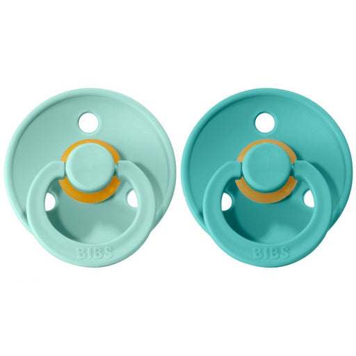 BIBS Cherry Shaped Pacifiers (2-pack) - 6+ months - Mint & Turquoise-Pacifier-BIBS-Eko Kids