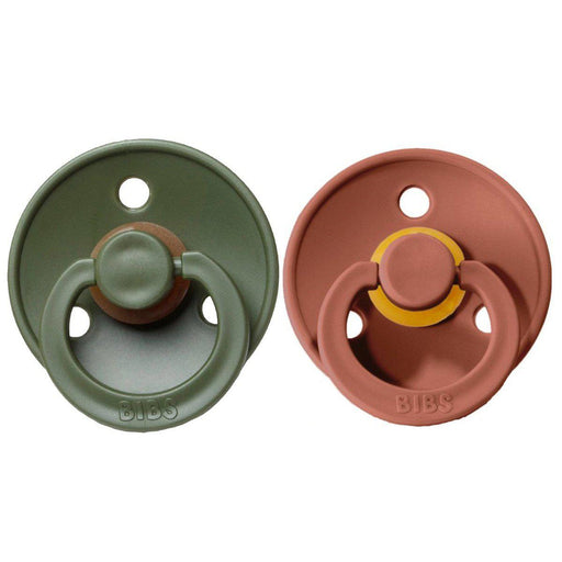 BIBS Cherry Shaped Pacifiers (2-pack) - 6+ months - Woodchuck & Hunter Green-Pacifier-BIBS-Eko Kids