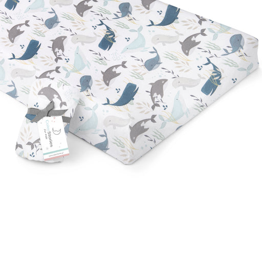 Changing Pad Cover/Crib Fitted Sheet-Fitted Sheet-ColorStories-Ocean-Eko Kids