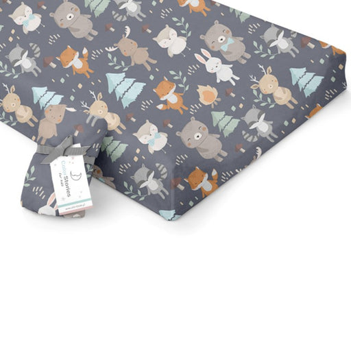 Changing Pad Cover/Crib Fitted Sheet-Fitted Sheet-ColorStories-Woodland Grey-Eko Kids