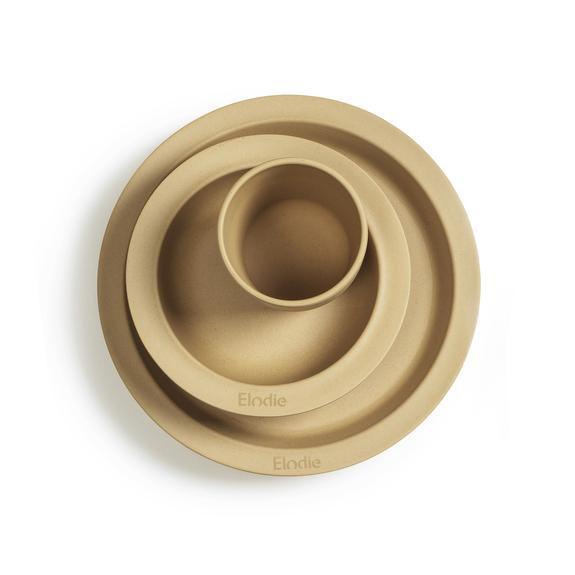 Bamboo Children's Dinner Set-Plate-Elodie Details-Gold-Eko Kids