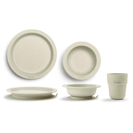 Bamboo Children's Dinner Set - Vanilla White-Dinner Set-Elodie Details-Eko Kids