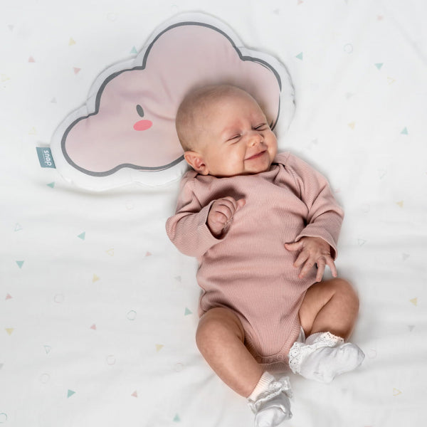 Snap The Moment Cloud Shaped Pillow with baby girl