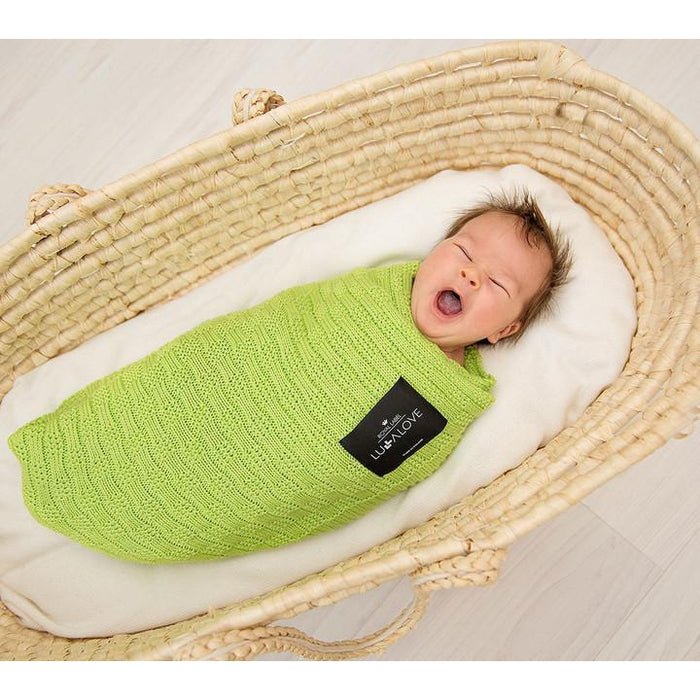 Lullalove Double Sided Bamboo Blanket Moss Green