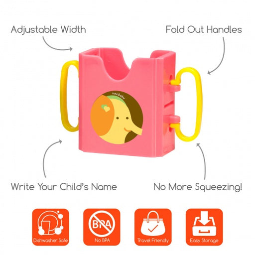 Sippin' Smart™ Drink/Juice Box Holder - Elephant-Drink Holder-Innobaby-Eko Kids