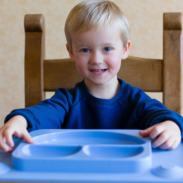 EasyMat Silicone Suction Plate & Placemat with Spoon - Blue-Placemat-EasyTots-Eko Kids