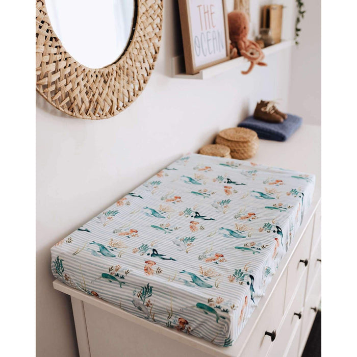 Fitted Bassinet Sheet / Change Pad Cover-Fitted Sheet-Snuggle Hunny Kids-Alpha-80 x 40 cm-Eko Kids