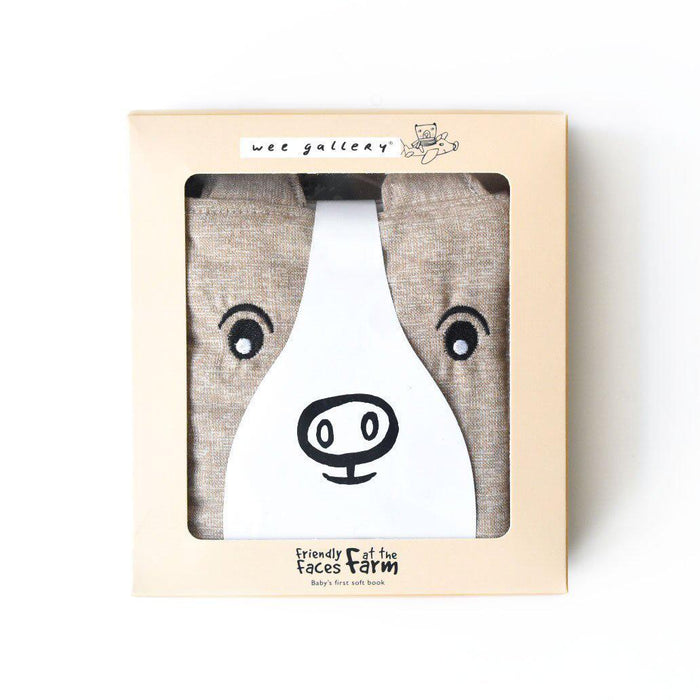 Friendly Faces - Baby's First Soft Cloth Book - Wee Gallery - Eko Kids