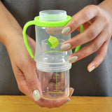 Glass Sip & Straw Cup 125ml - Green Sprouts - Eko Kids