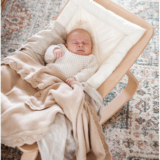 Heirloom Knit Blanket - Caramel-Blanket-Ziggy Lou-Eko Kids