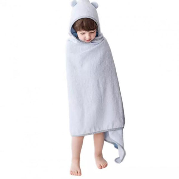 Large Bamboo Hooded Bath Towel - Lullalove - Eko Kids