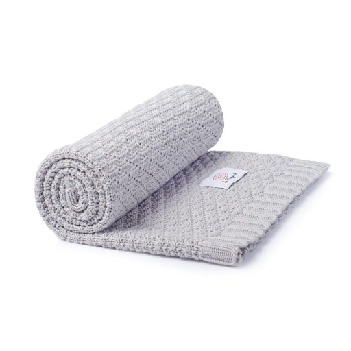 Bamboo & Cotton Blanket 100 x 80 cm-Blanket-Le Pampuch-Light Grey-Eko Kids
