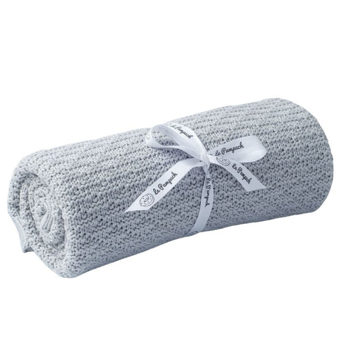 Bamboo & Cotton Blanket 100 x 80 cm - Light Grey-Blanket-Le Pampuch-Eko Kids
