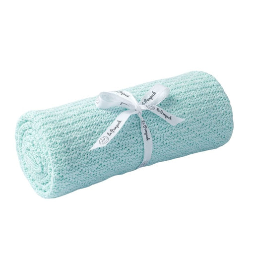 Bamboo & Cotton Blanket 100 x 80 cm - Mint Green-Blanket-Le Pampuch-Eko Kids