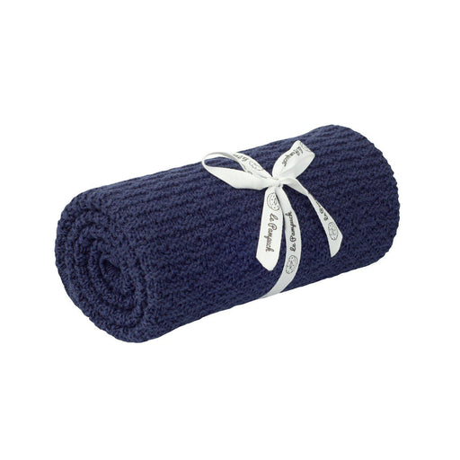 Bamboo & Cotton Blanket 100 x 80 cm-Blanket-Le Pampuch-Navy Blue-Eko Kids