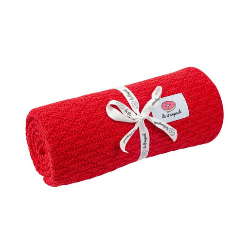 Bamboo & Cotton Blanket 100 x 80 cm-Blanket-Le Pampuch-Red-Eko Kids