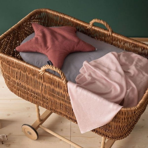 Light Knitted Bamboo Blanket - 90 x 90 cm - Powder Pink-Blanket-Poofi-Eko Kids