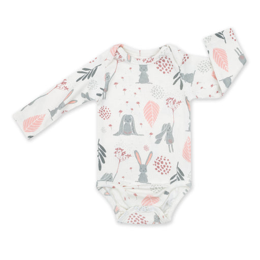 Long-sleeved Cotton Bodysuit-Bodysuit-ColorStories-1-3 months (62 cm)-Bunny-Eko Kids