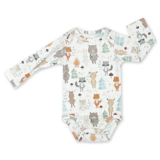 Long-sleeved Cotton Bodysuit-Bodysuit-ColorStories-1-3 months (62 cm)-Woodland-Eko Kids