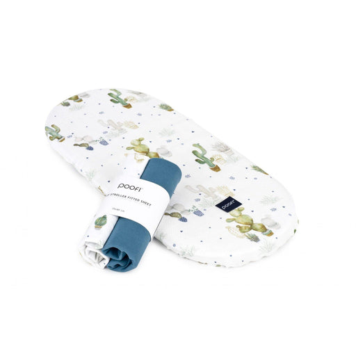 Moses Basket/Pram Printed Fitted Sheet 2-pack - Poofi - Eko Kids