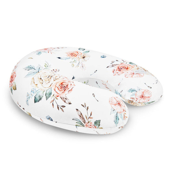 Feeding & Nursing Pillow-nursing pillow-Qbana Mama-Vintage Flowers-Eko Kids