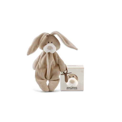 Organic Comforter With Dummy Holder - Bunny - Wooly Organic - Eko Kids