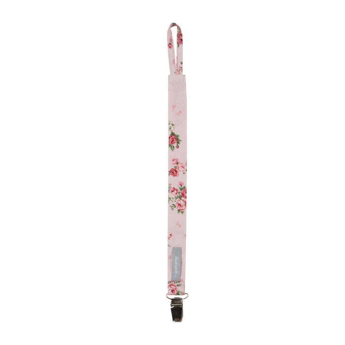 Cotton Pacifier Clip-Pacifier Clip-Beztroska-Rose Garden Pink-Eko Kids