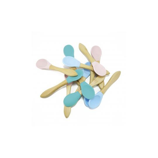 Scoops - Bamboo and Silicone Baby Spoons (2-pack) - Minikoioi - Eko Kids
