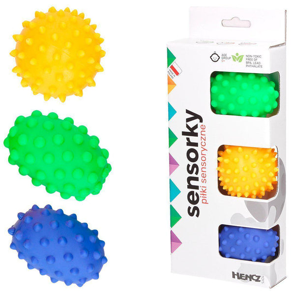 Sensorky - Textured Massage Balls - Set of 3 - Mom's Care - Eko Kids