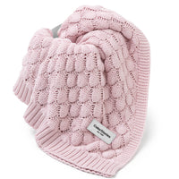 Soft Bamboo Baby Blanket-blanket-ColorStories-Dusty Pink-Eko Kids