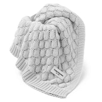 Soft Bamboo Baby Blanket-blanket-ColorStories-Light Grey-Eko Kids