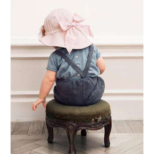 Cotton Sun Hat - Powder Pink-Sun Hat-Elodie Details-0-6 months-Eko Kids