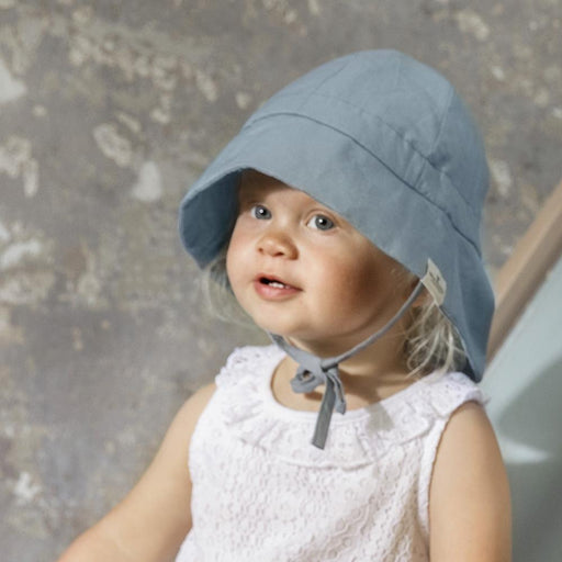 Cotton Sun Hat - Tender Blue-Sun Hat-Elodie Details-0-6 months-Eko Kids