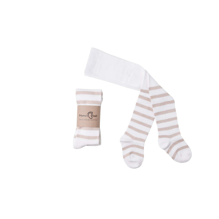 Mama's Feet Tights - Stripes cream and gold