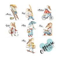 Little Mouse Street Wallstickers Set-wallsticker-Dekornik-Eko Kids