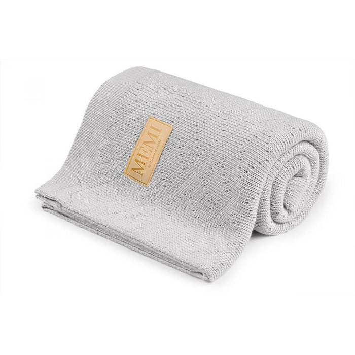 Warm Double Woven Cotton Blanket - Light Grey - MEMI - Eko Kids