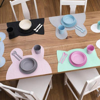 Cat Placie Silicone Placemat-Placemat-We Might Be Tiny-Powder Blue-Eko Kids