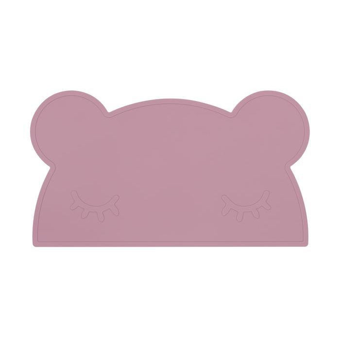 Bear Placie Silicone Placemat-Placemat-We Might Be Tiny-Dusty Rose-Eko Kids