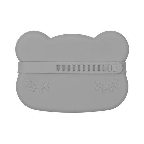 Bear Snackie Silicone Bowl & Plate-Plate-We Might Be Tiny-Dark Grey-Eko Kids
