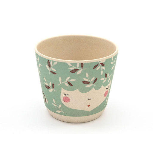 Flower Face Bamboo Bowl-Bowl-Yuunaa-Mint-Eko Kids