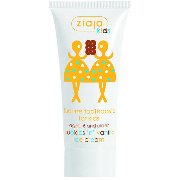 Ziaja Kids Fluorine Toothpaste Cookies'n'Vanilla Ice Cream 50ml - Ziaja - Eko Kids