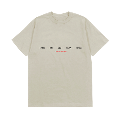 NASIR JONES CREAM T-SHIRT + DIGITAL ALBUM