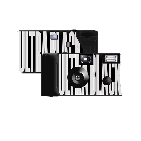 ULTRA BLACK DISPOSABLE CAMERA + DIGITAL ALBUM