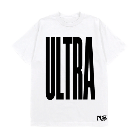 WHITE ULTRA BLACK T-SHIRT + DIGITAL ALBUM