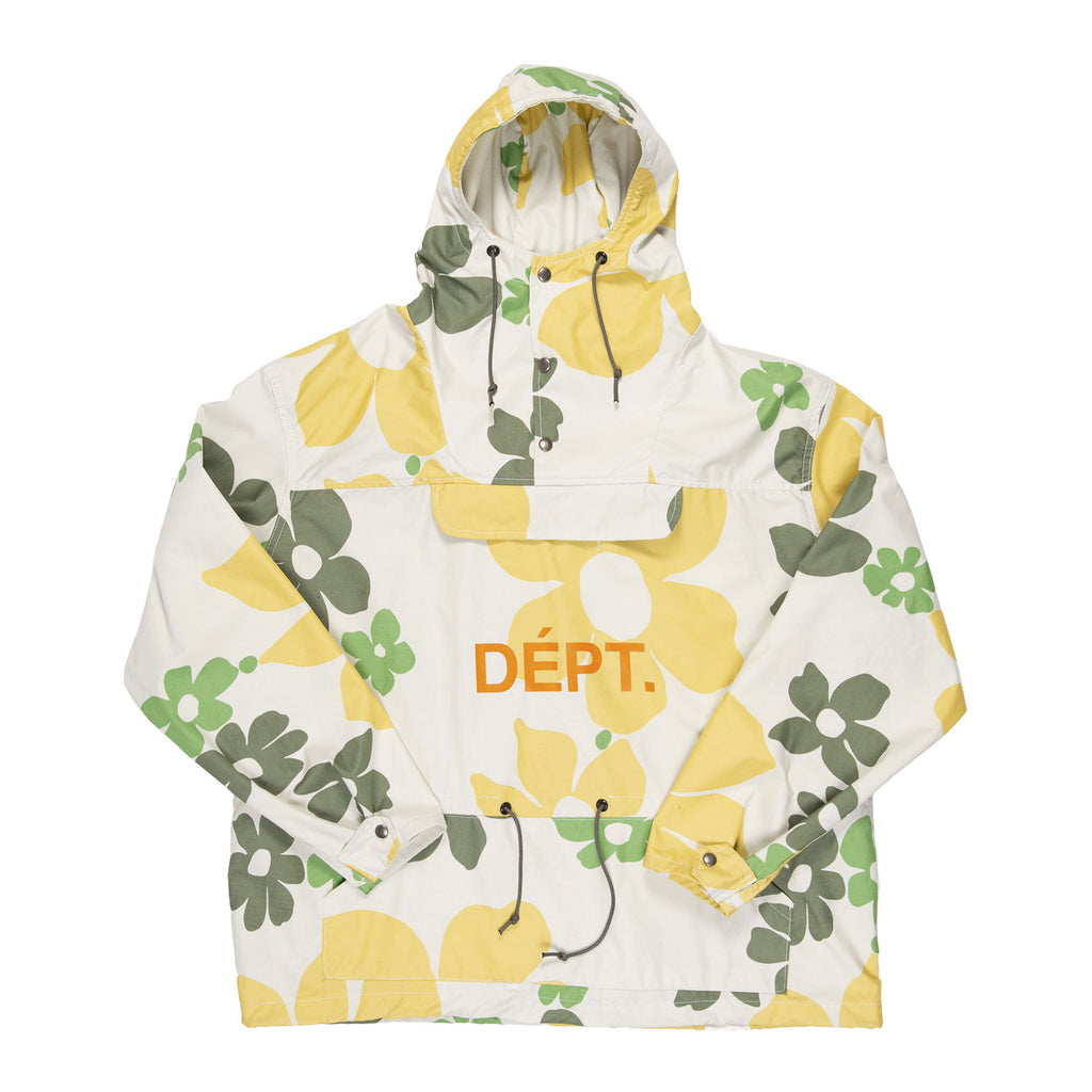 White Floral Riley Anorak Jacket