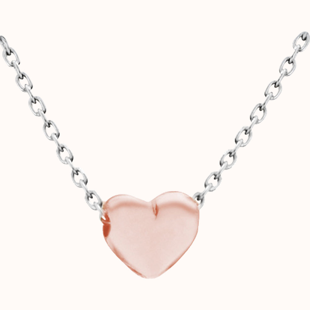 Rose Gold Heart Adjustable Necklace