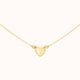 Load image into Gallery viewer, 9ct Yellow Gold 3-Heart Charm Box Chain Necklace