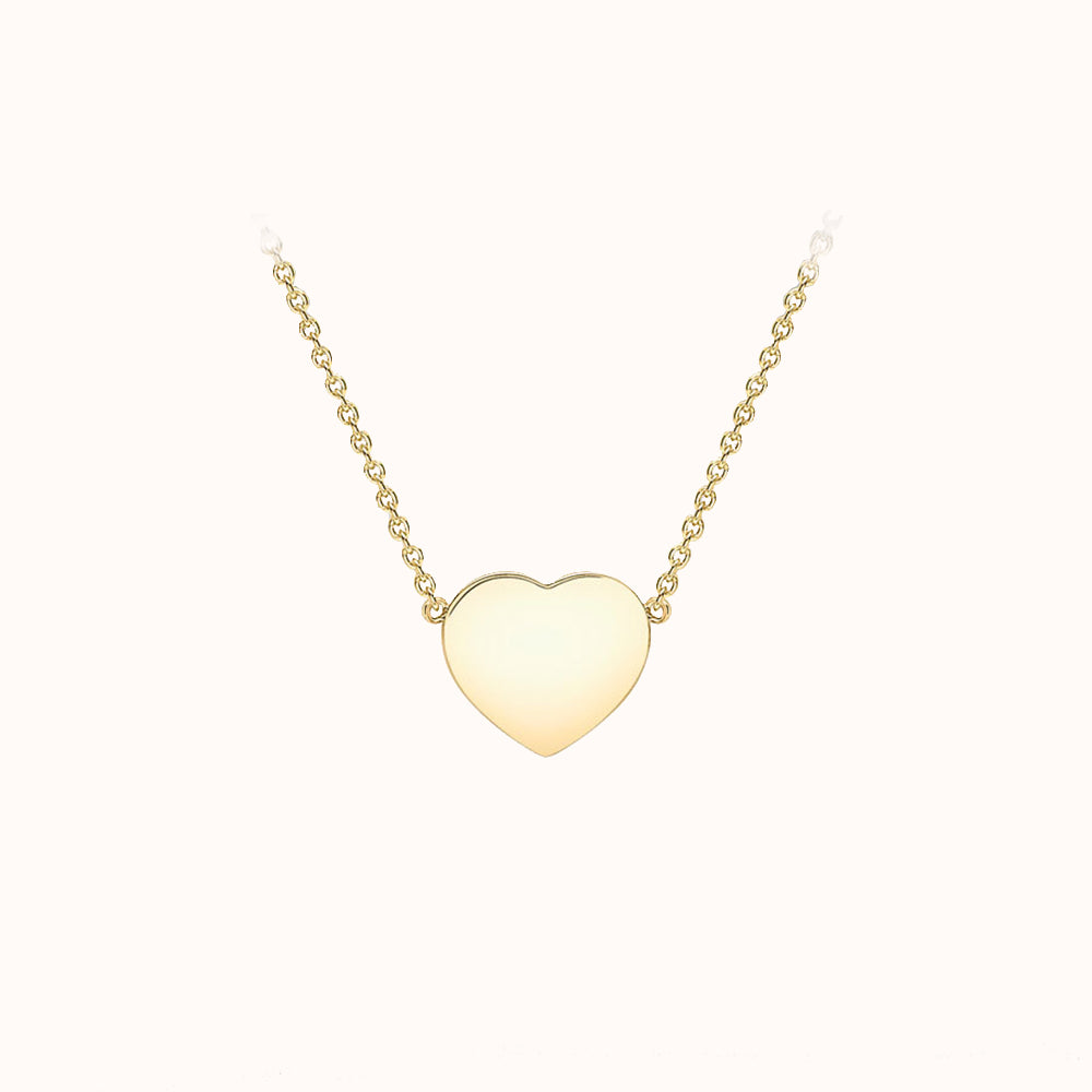 9ct Yellow Gold Heart Adjustable Necklace
